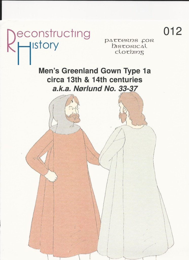 Schnittmuster Reconstructing History RH 012 Paper pattern Greenland Tunic 1a